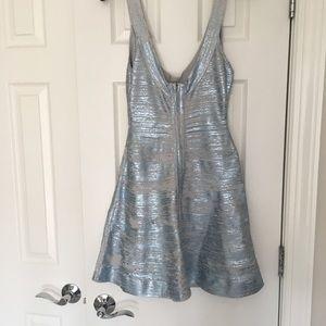0ac0c9a03a60 Herve Leger Dresses - HERVE LEGER EVA Metallic Coated Bandage Dress smal